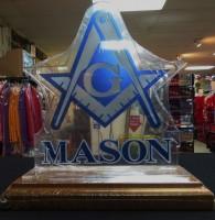 Plastic Desktop Plaque - Mason