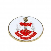 Delta Round Car Badge