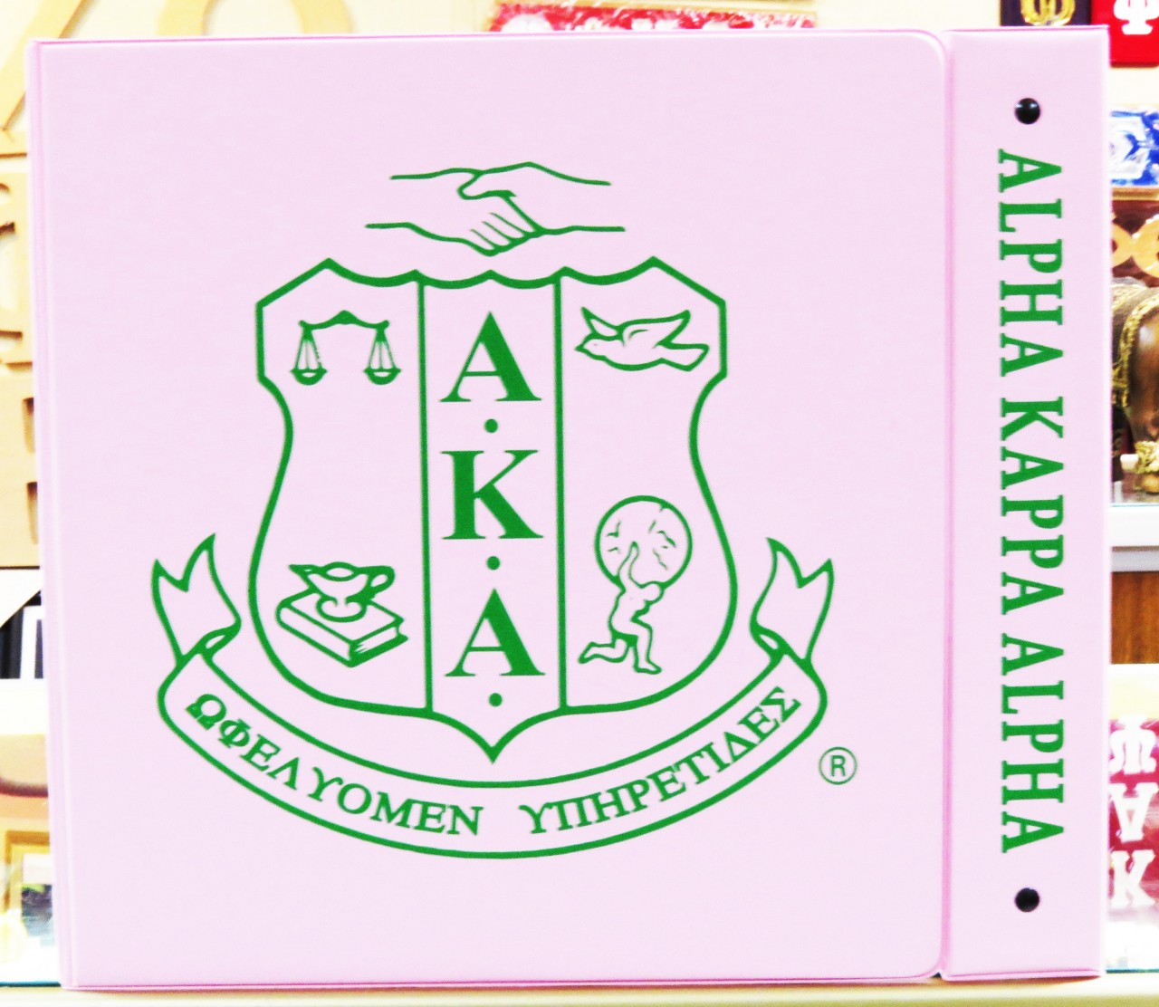 2 Inch Binder - Alpha Kappa Alpha - The Greek Shop