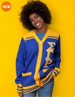SGRHO BUTTON DOWN SWEATER