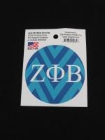 Zeta Phi Beta Oval  Sticker
