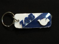 Zeta Phi Beta - Split Symbol Key Chain