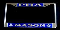 Blue & Gold PHA License Plate Frame