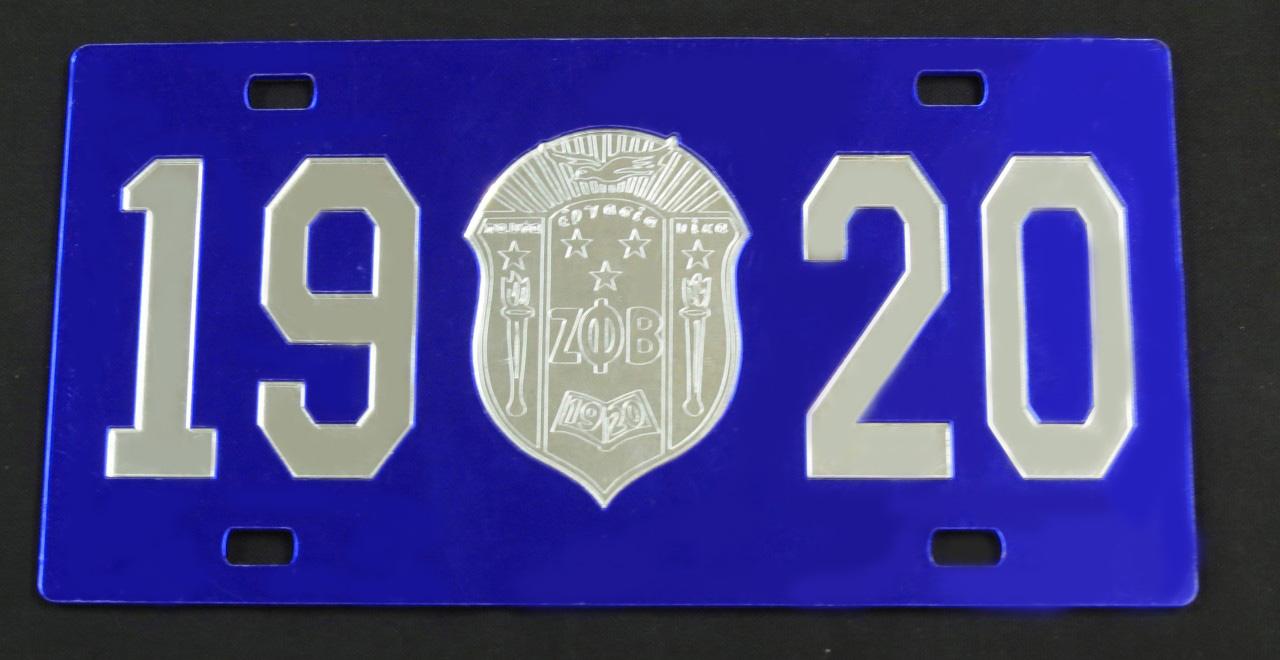 Zeta Phi Beta Quot 1920 Amp Shield Quot Front Plate The Greek Shop