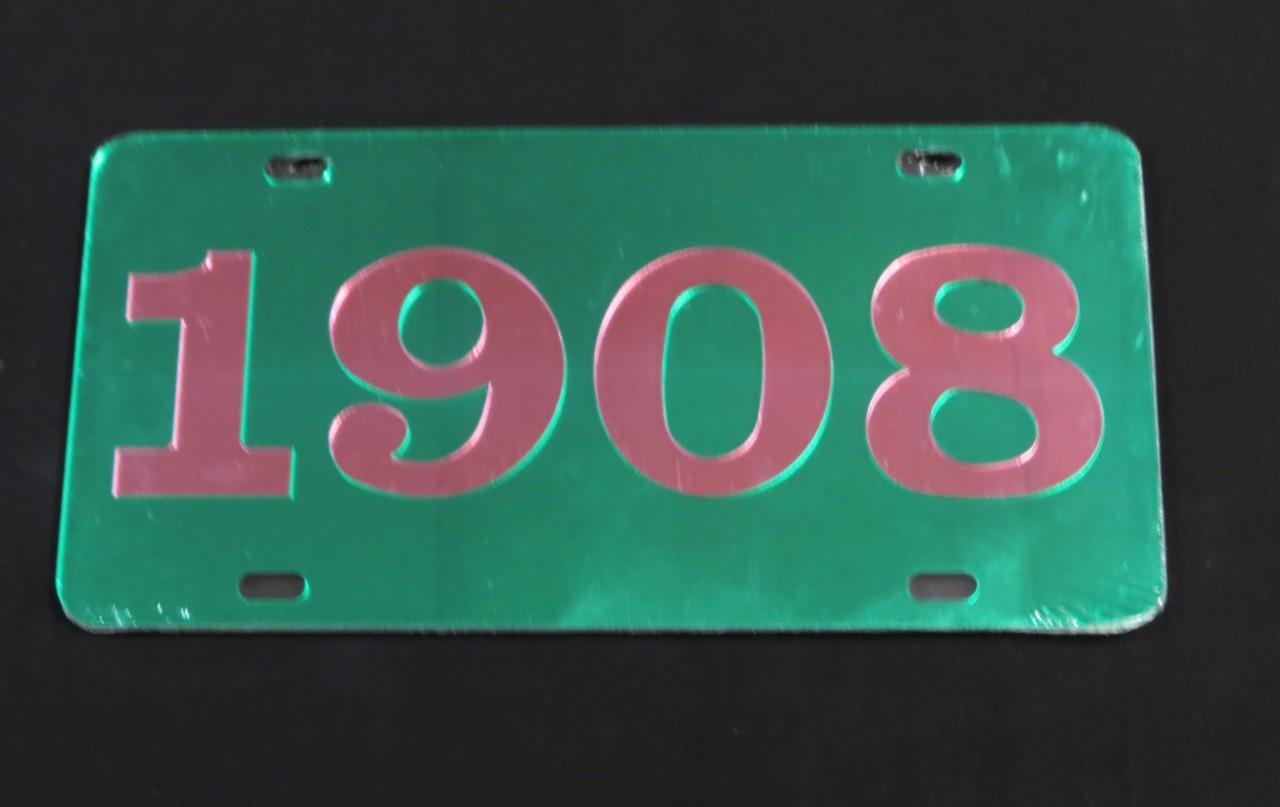 Alpha Kappa Alpha Front Tag Quot 1908 Quot 2 Colors The