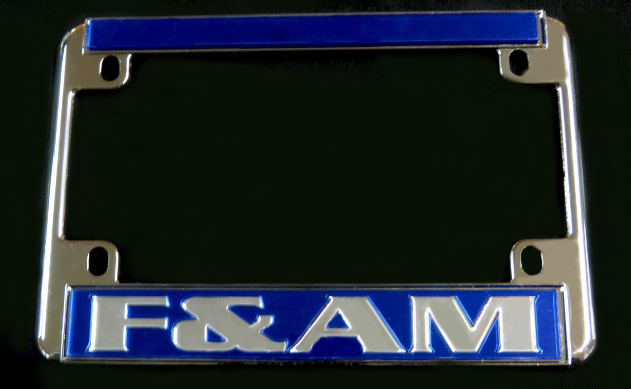 Blue F Amp A M Motorcycle License Plate Frame The Greek Shop