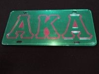 Alpha Kappa Alpha- Mirror Outlined Plate