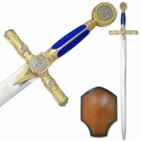 Blue Masonic Medeival Sword- 45
