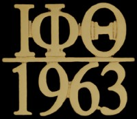Greek Letter and Founded Year Lapel Pins - Iota Phi Theta
