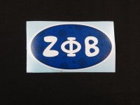 Zeta Phi Beta Oval Sticker