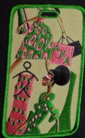 Diva Luggage Tags - Alpha Kappa Alpha