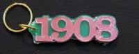 Founded Year Keychain- Alpha Kappa Alpha (1908)