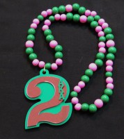 AKA - Sorority Line Number Tiki w/ Beads (#1-99)