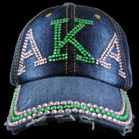 Sorority Rhine Stone Denim Hat