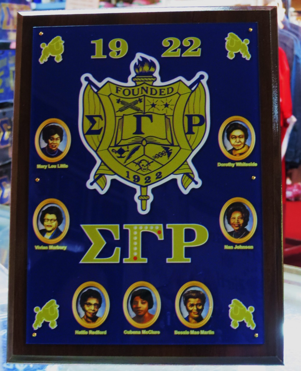 Sigma Gamma Rho Founders Plaque The Greek Shop