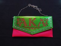 Large Clutch Bag w/ Chain - Alpha Kappa Alpha