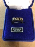 Zeta Phi Beta Sterling Silver Ring