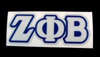 Zeta Phi Beta - Reflective Greek Decal Letters