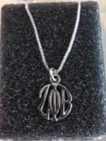 Zeta Charm/Necklace Sterling Silver