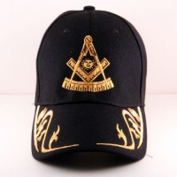Masonic Hat w/ Gold Design on The Brim