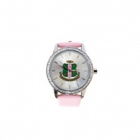 Alpha Kappa Alpha Watches w/ Leather Band