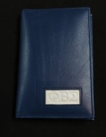 Leather Phi Beta Sigma Passport Wallets