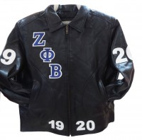 Zeta Phi Beta 3 Bomber/Fitted Leather Jacket