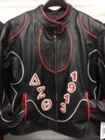 Delta Rhinestone Leather Jacket