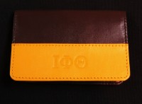 Iota Phi Theta Leather Business Card Holder