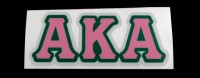 Alpha Kappa Alpha Reflective Greek Decal Letters
