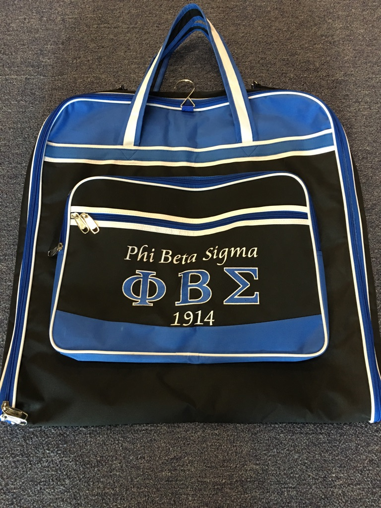 Phi Beta Sigma Garment Bag W Shoulder Strap The Greek Shop
