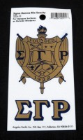 Sigma Gamma Rho Shield Sticker