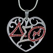 Delta Crystal Filigree Heart