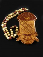 Phi Beta Sigma - X-Large Shield Tiki w/ Beads