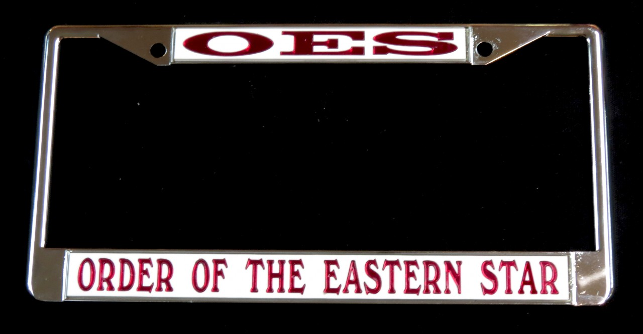 White Oes License Plate Frame The Greek Shop