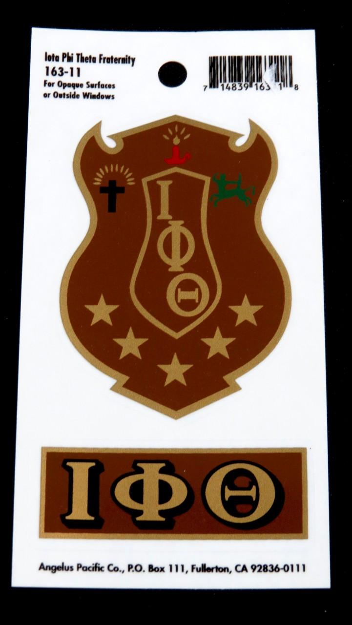 Iota Phi Theta Shield Sticker The Greek Shop