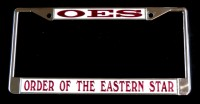 White OES License Frame