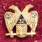32nd Degree Lapel Pin