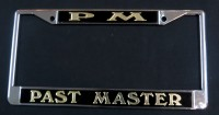 Black & Gold Past Master License Frame