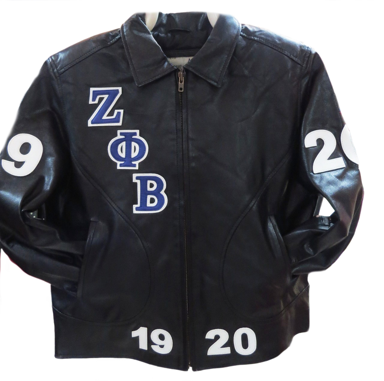 Zeta Phi Beta 3 Bomber Fitted Leather Jacket The Greek Shop