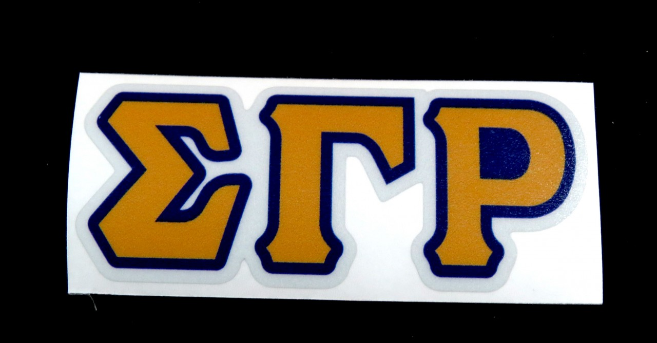 Sigma Gamma Rho Reflective Greek Decal Letters The