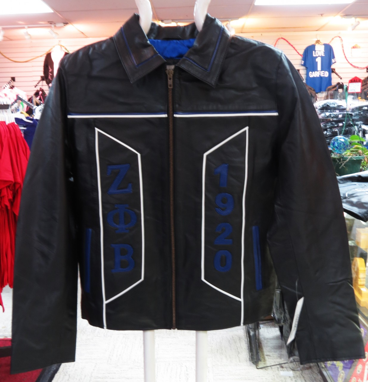 Zeta Phi Beta Leather Jacket The Greek Shop