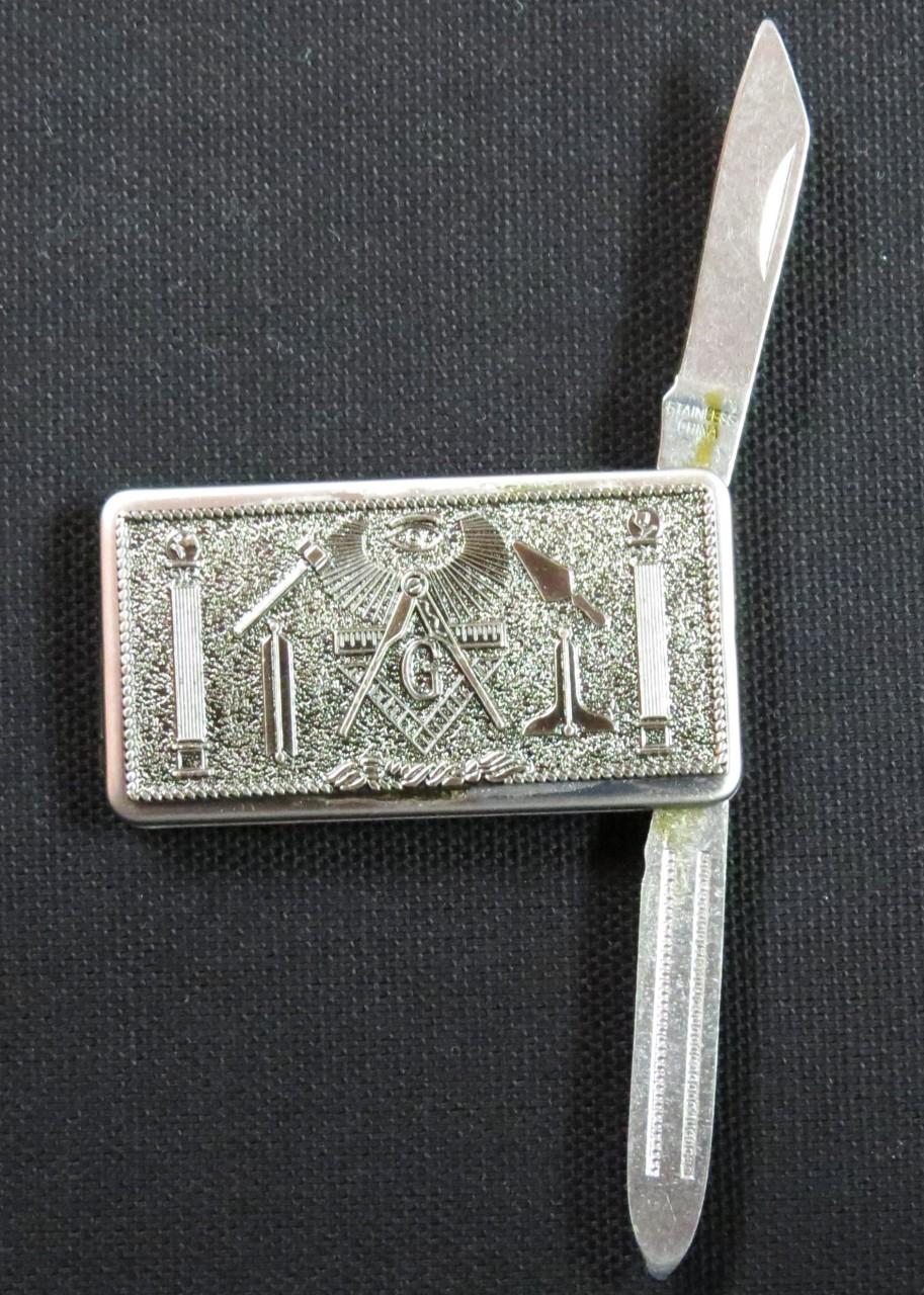 Masonic Money Clips W Swiss Army Knife The Greek Shop