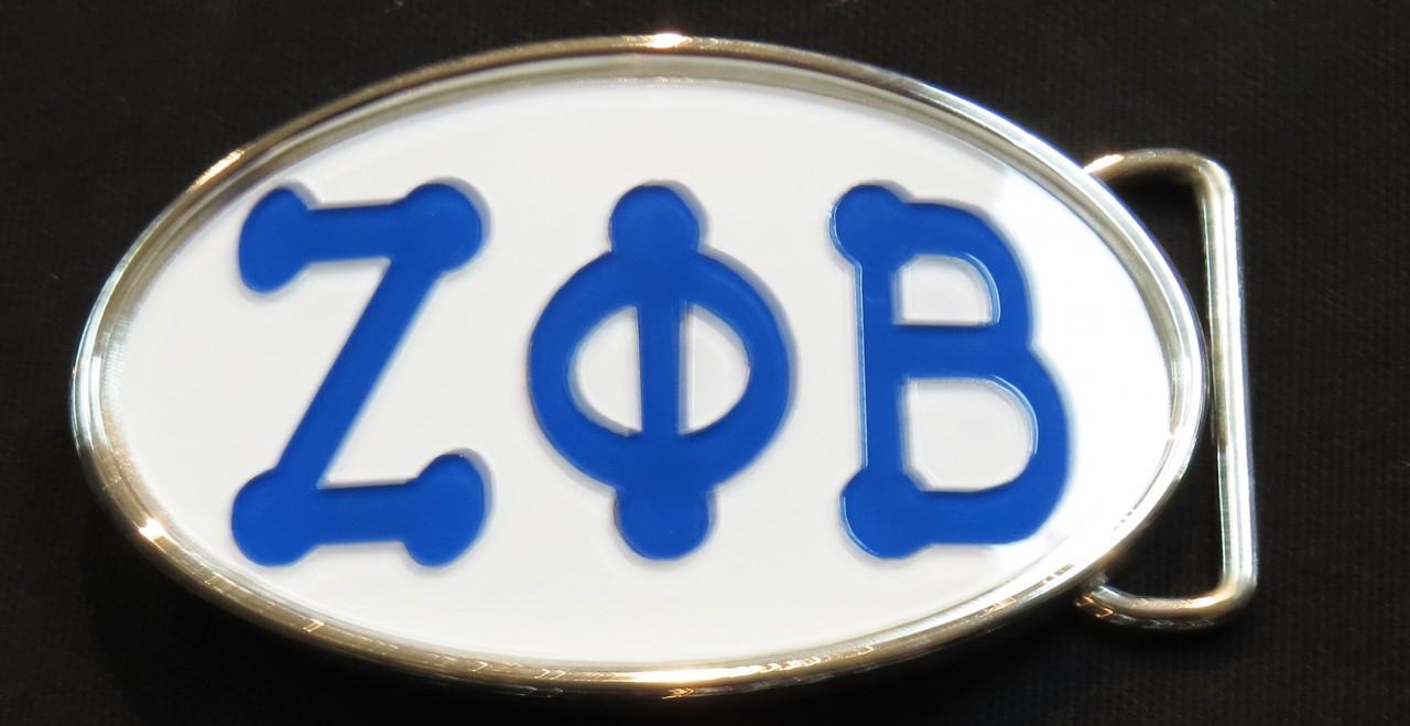 Belt Buckle W Bubble Letters Zeta Phi Beta The Greek Shop
