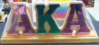 Wooden Desktop Letters - Alpha Kappa Alpha