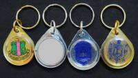 Sorority Dome Crest Keychains