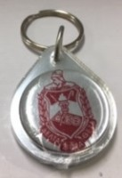 Delta Domed Key Chain
