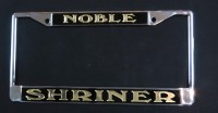 Black Noble Shrine License Plate Frame