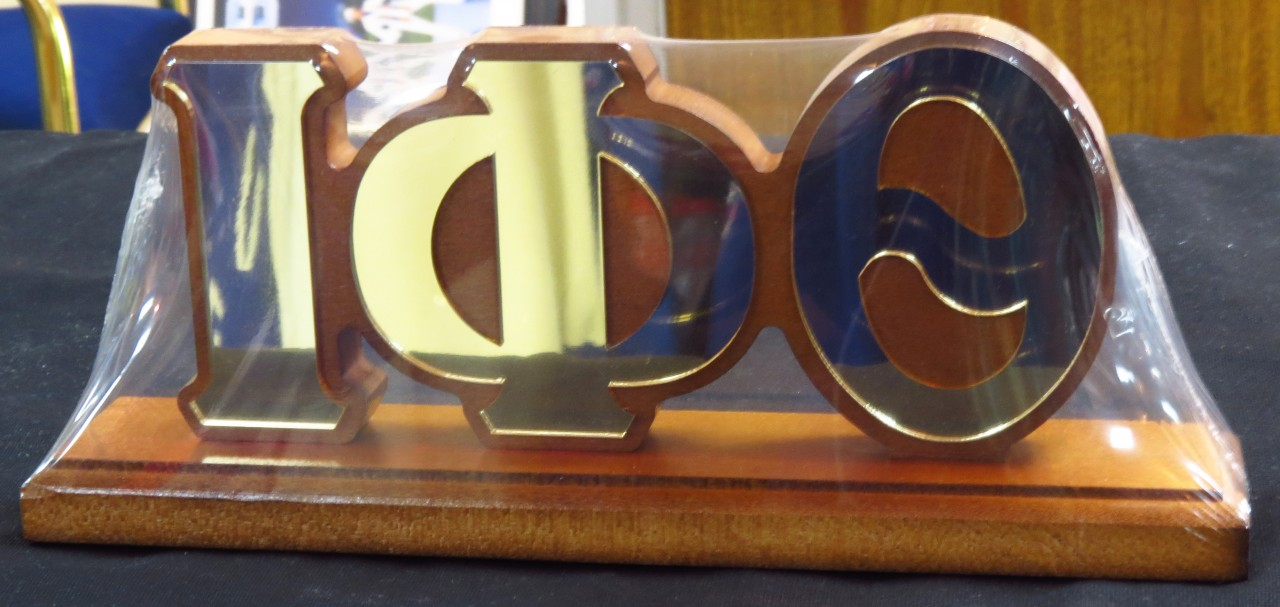 Iota Phi Theta Wooden Desktop W Mirror Letters The
