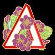 Delta African Violet Pin